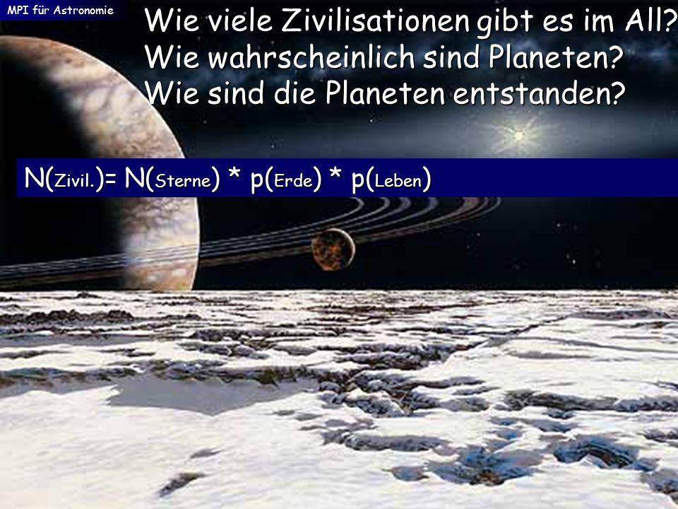 MPI für Astronomie Wie viele Zivilisationen gibt es im All Wie wahrscheinlich sind Planeten Wie sind die Planeten entstanden