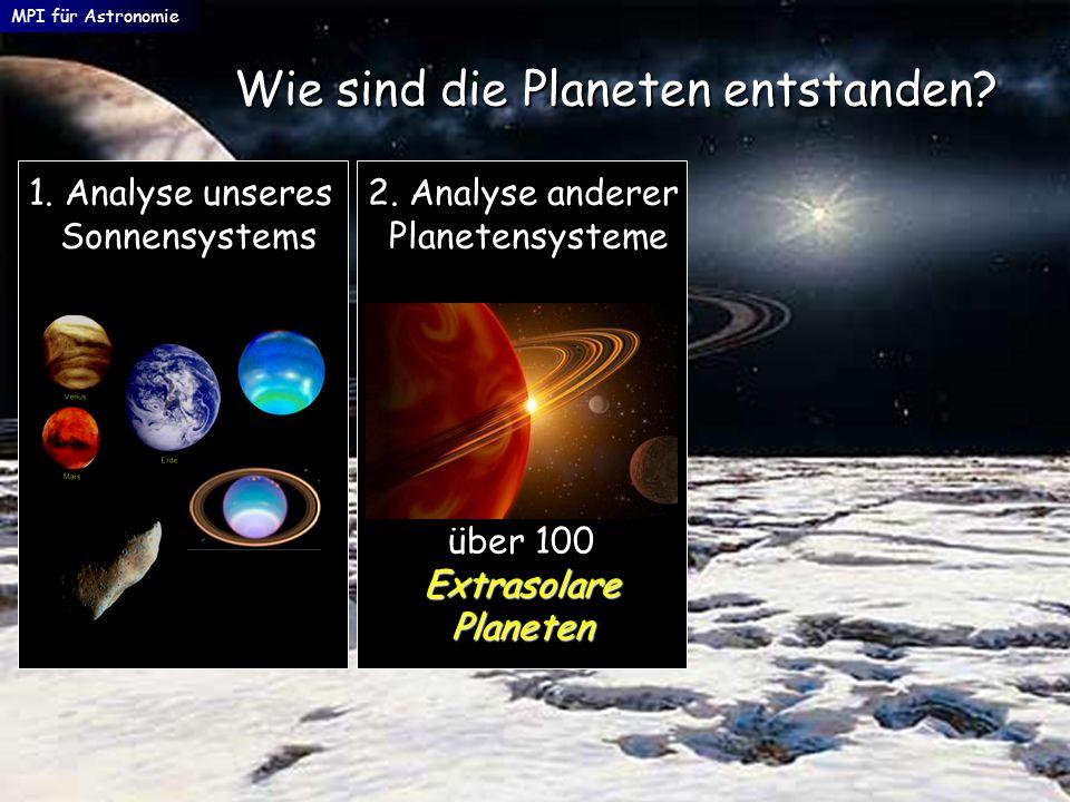 Wie sind die Planeten entstanden