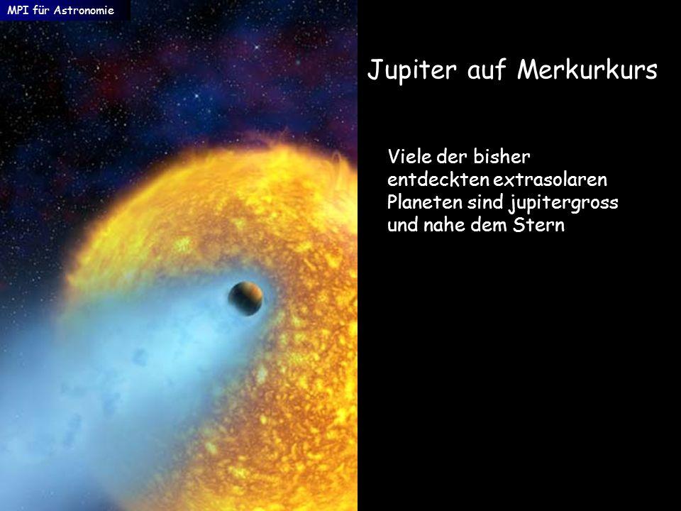 Jupiter auf Merkurkurs