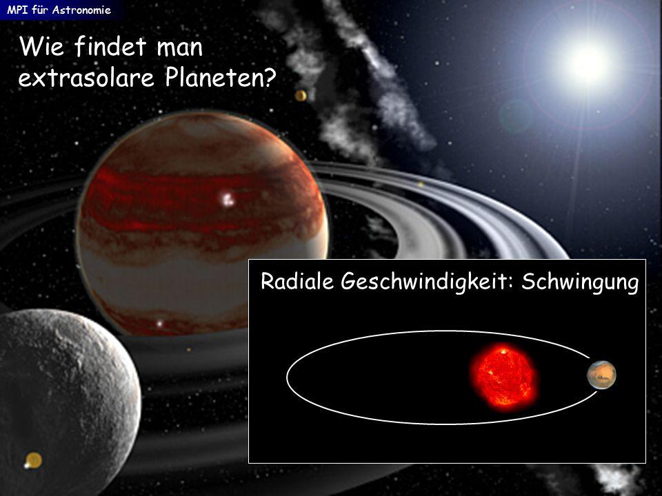 Wie findet man extrasolare Planeten