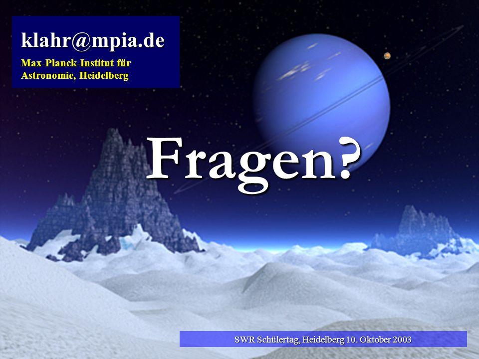 SWR Schülertag, Heidelberg 10. Oktober 2003