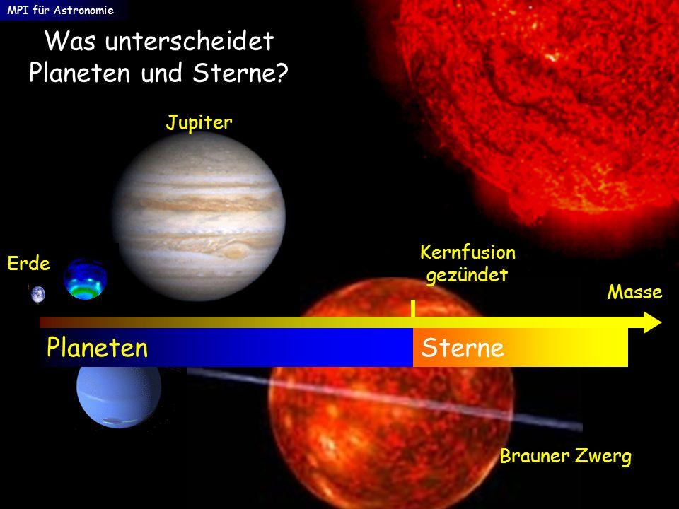Was unterscheidet Planeten und Sterne
