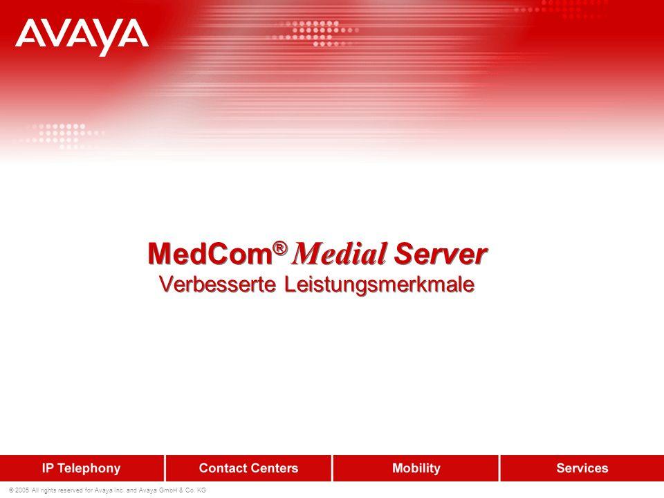 MedCom® Medial Server Verbesserte Leistungsmerkmale