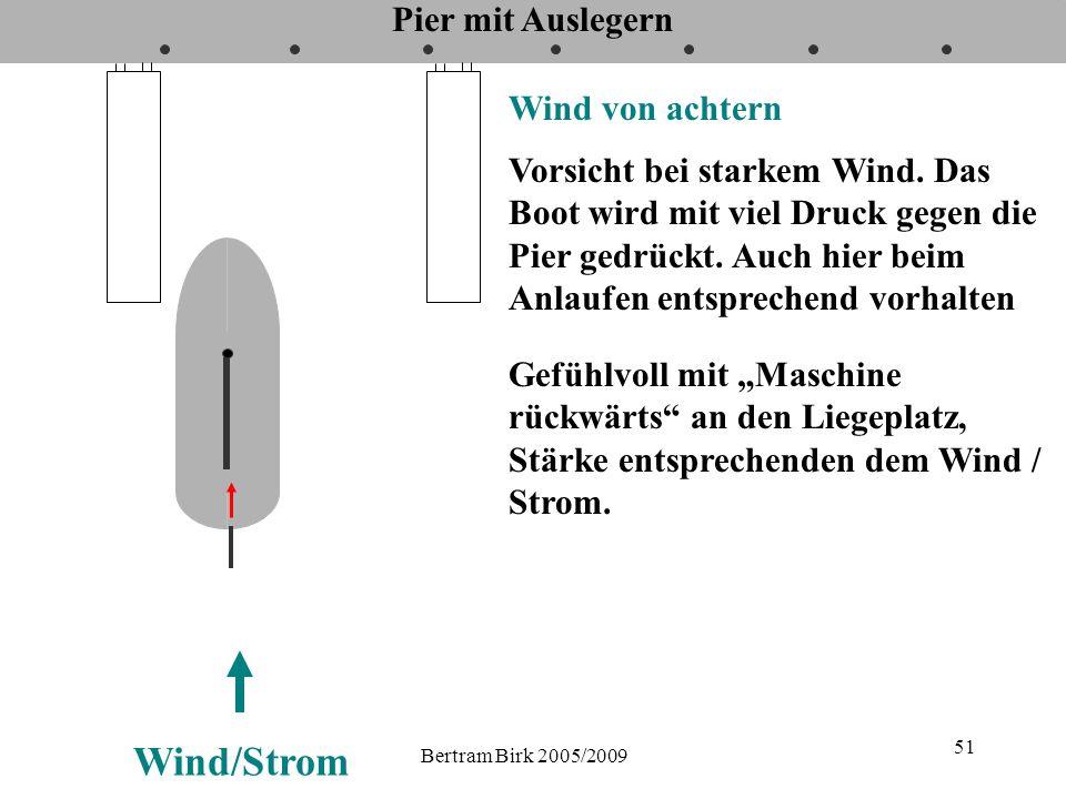 Wind/Strom Pier mit Auslegern Wind von achtern
