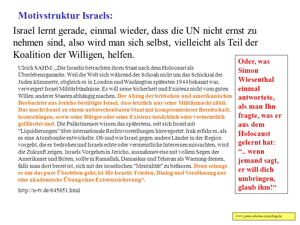 Motivstruktur Israels: