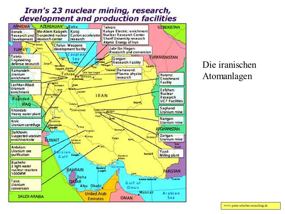 Die iranischen Atomanlagen