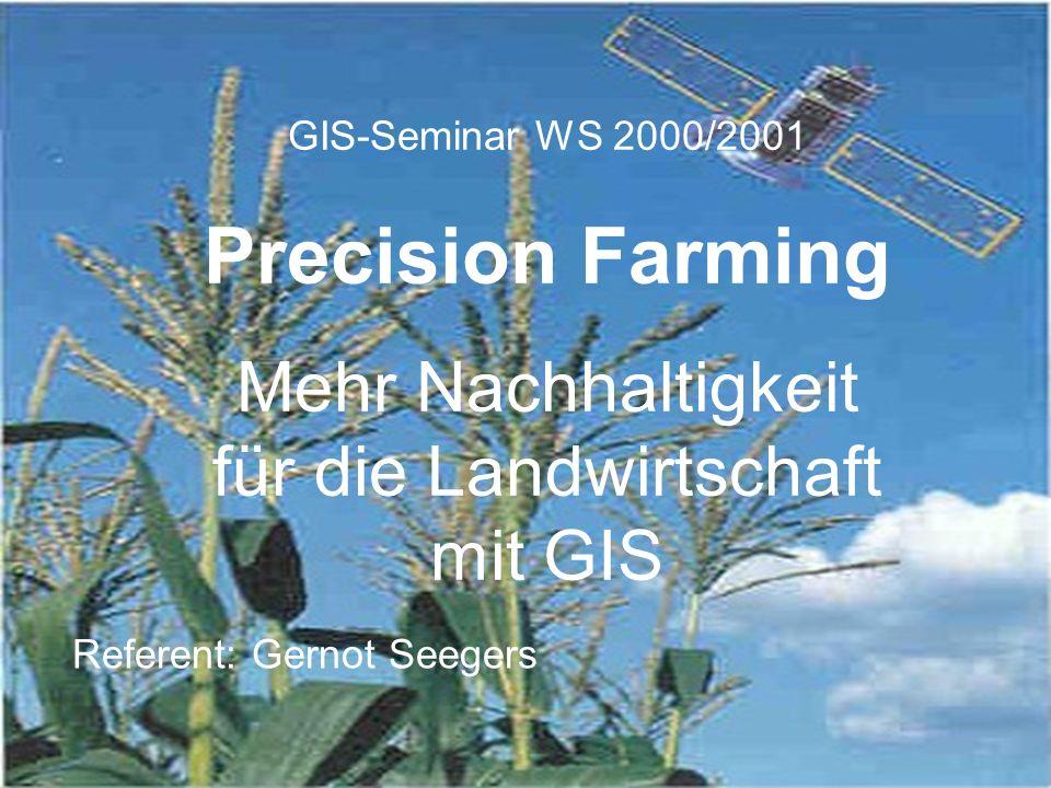 Mehr Nachhaltigkeit für die Landwirtschaft mit GIS