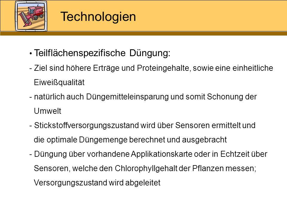 Technologien Teilflächenspezifische Düngung: