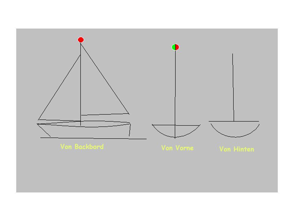 Beschreiben Sie, welche Lichter ein Segelfahrzeug bis 20 m führen kann bzw. muss.
