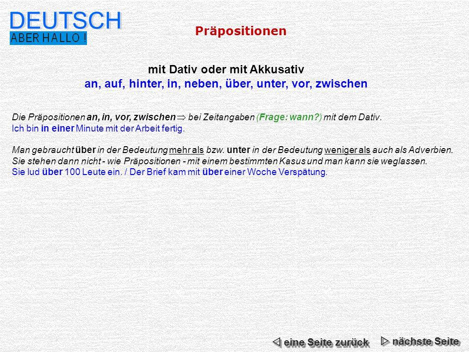 Deutsch pr positionen n chste seite ppt video online for Prapositionen mit akkusativ