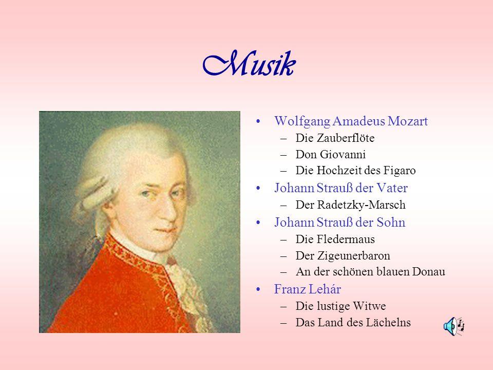 Musik Wolfgang Amadeus Mozart Johann Strauß der Vater