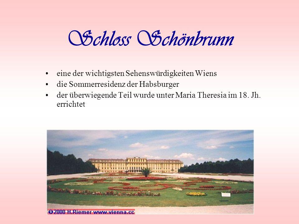 Schloss Schönbrunn eine der wichtigsten Sehenswürdigkeiten Wiens
