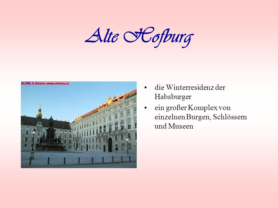 Alte Hofburg die Winterresidenz der Habsburger