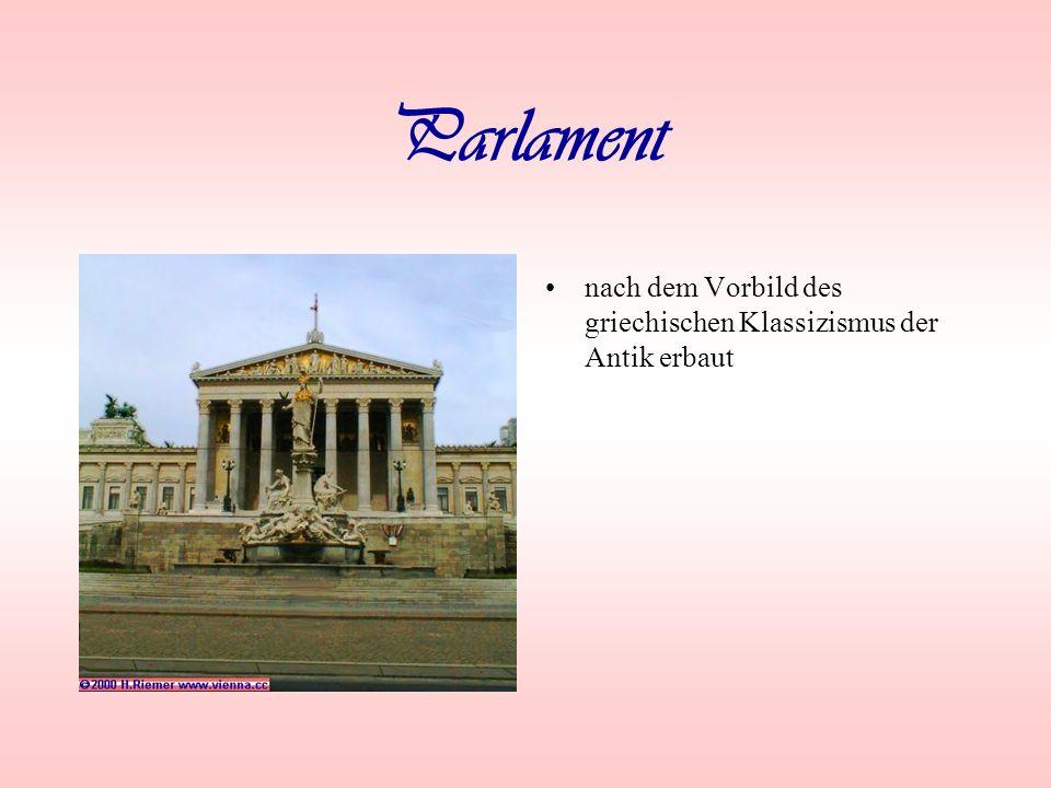 Parlament nach dem Vorbild des griechischen Klassizismus der Antik erbaut