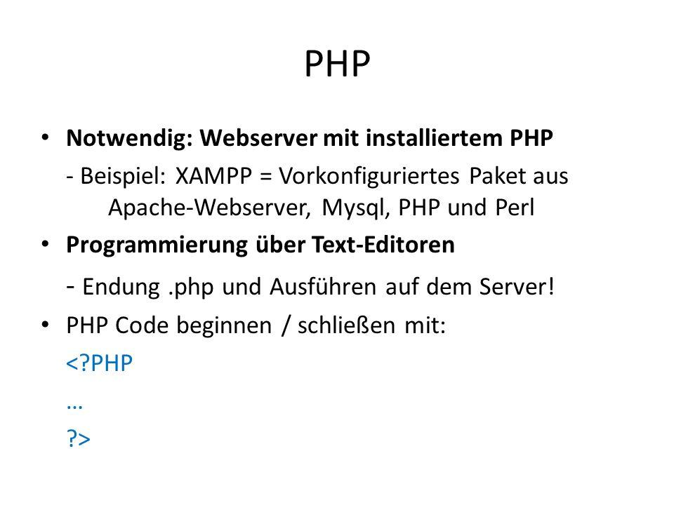PHP - Endung .php und Ausführen auf dem Server!