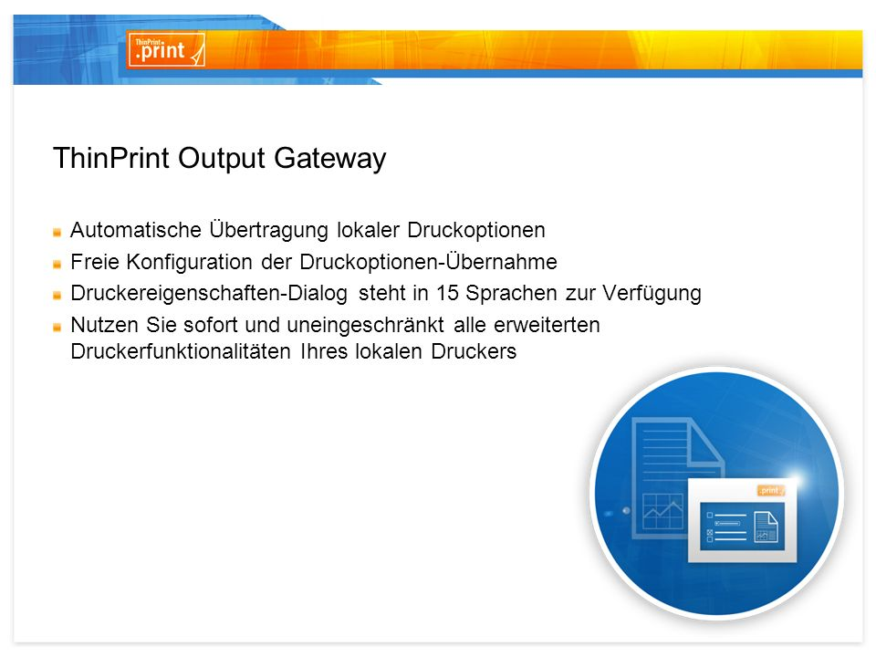 ThinPrint Output Gateway