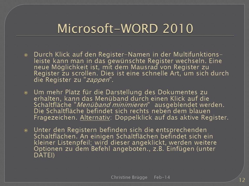 Microsoft-WORD 2010