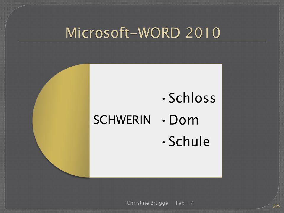 Microsoft-WORD 2010 Schloss Dom Schule SCHWERIN Christine Brügge