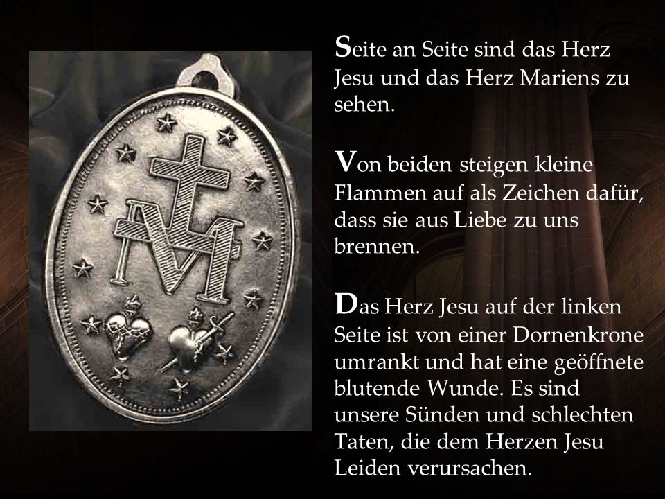 Seite an Seite sind das Herz Jesu und das Herz Mariens zu sehen