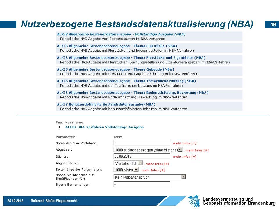 Nutzerbezogene Bestandsdatenaktualisierung (NBA)