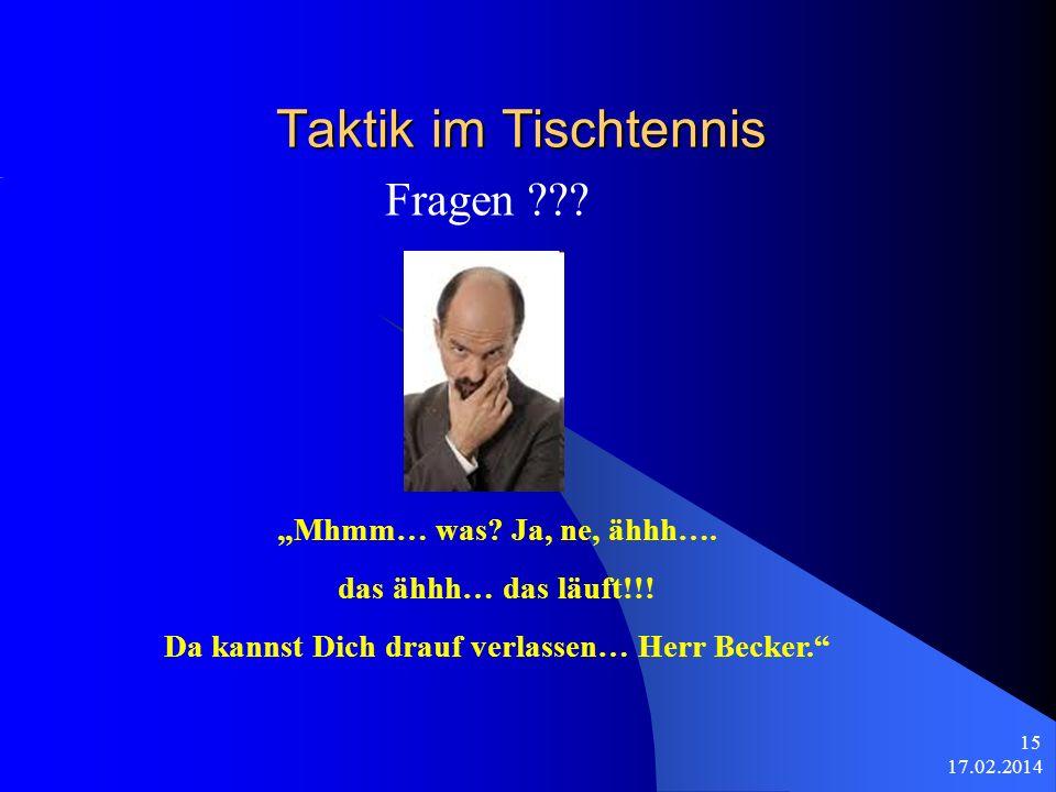 Da kannst Dich drauf verlassen… Herr Becker.