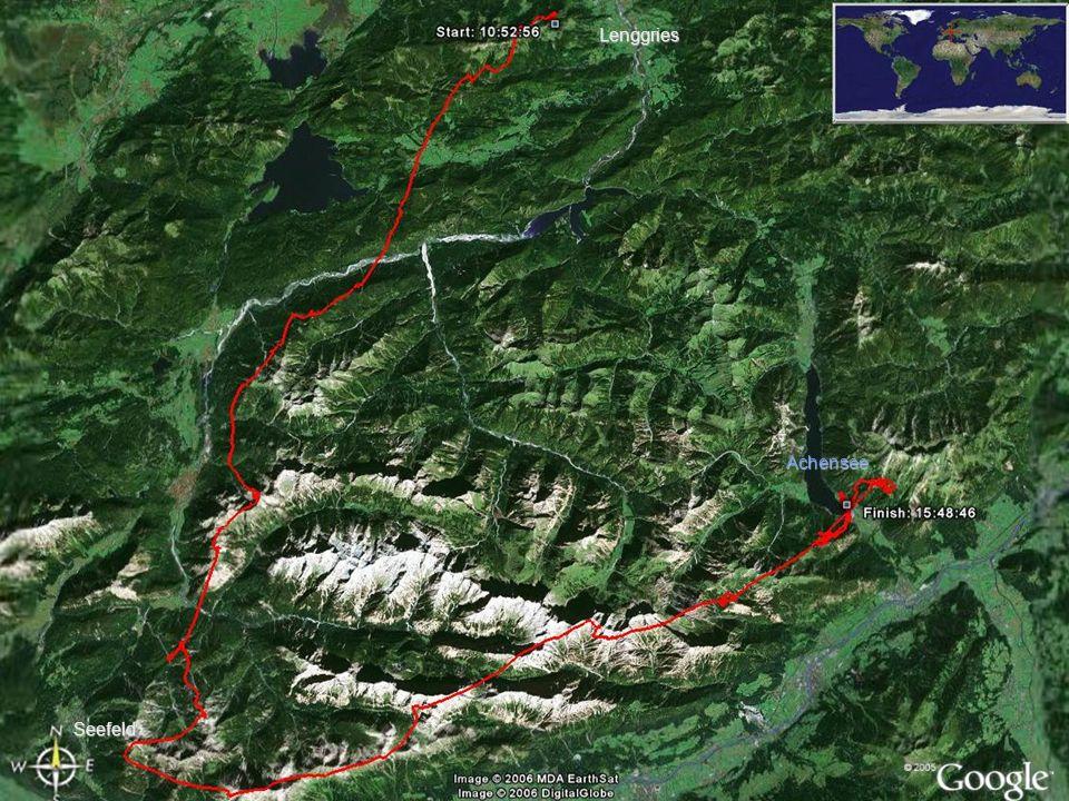 Lenggries Übersicht Achensee Seefeld