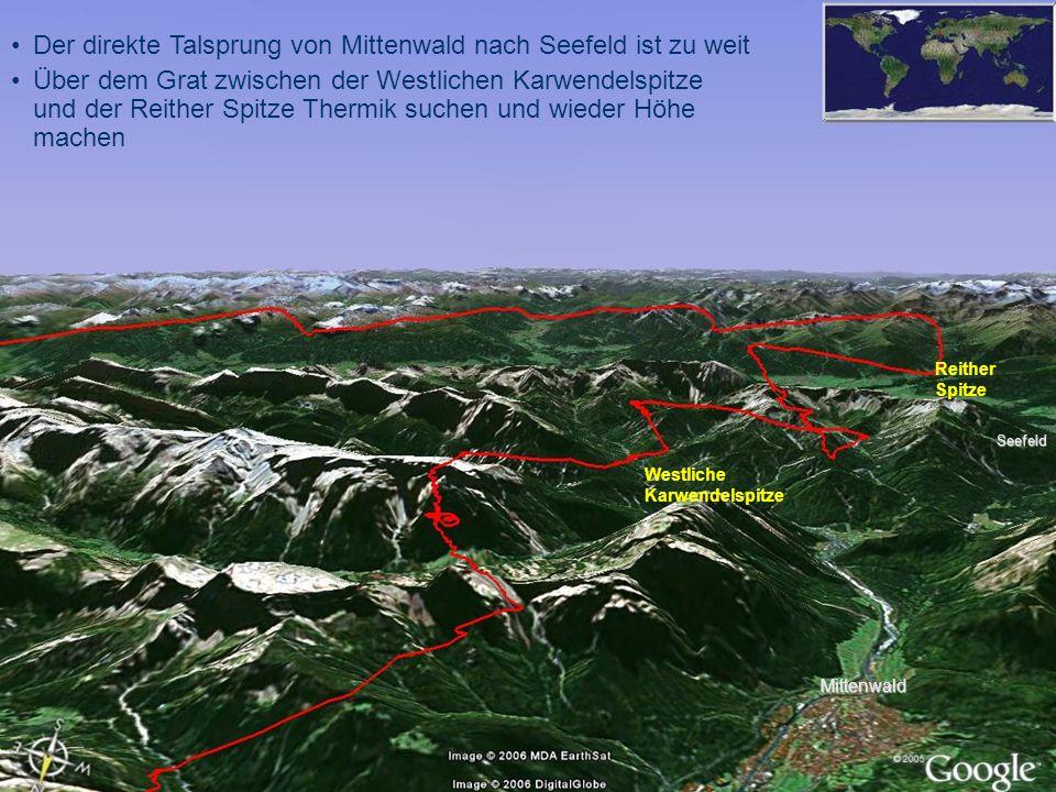 Der direkte Talsprung von Mittenwald nach Seefeld ist zu weit