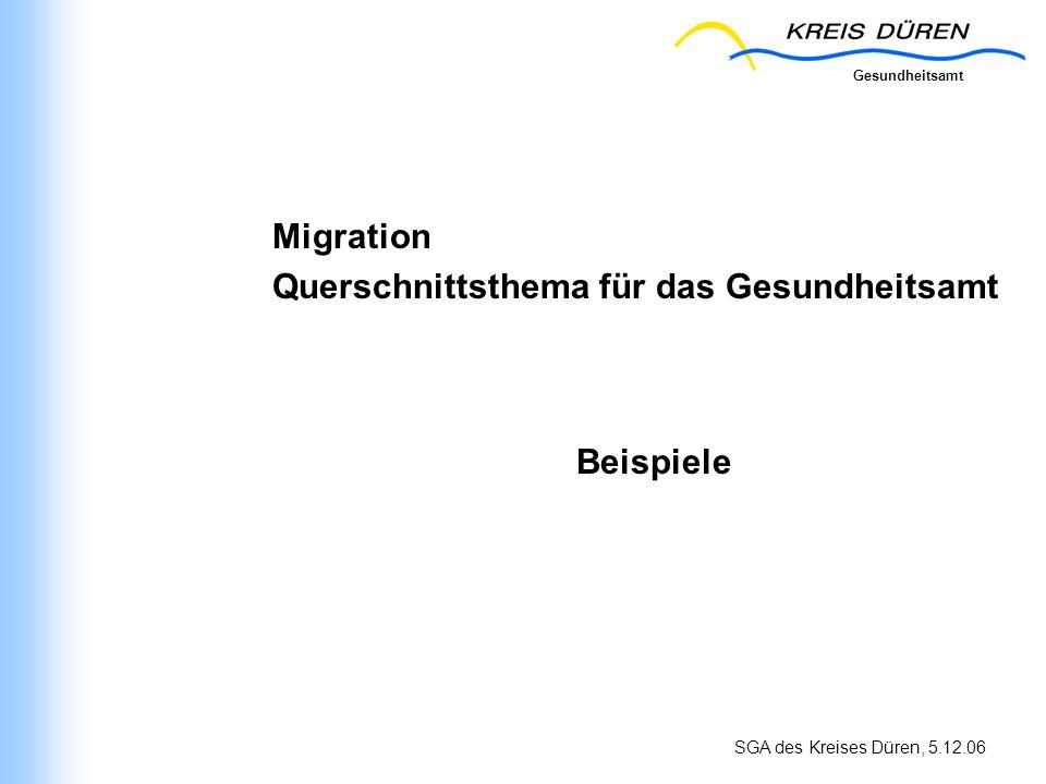 Migration Querschnittsthema für das Gesundheitsamt Beispiele