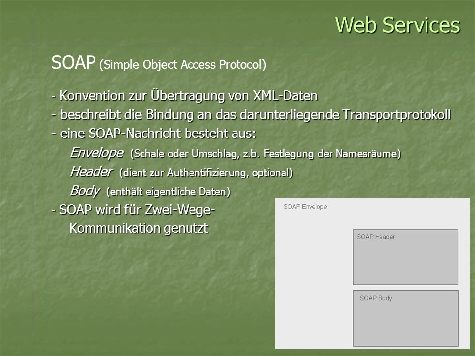 Web Services SOAP (Simple Object Access Protocol)