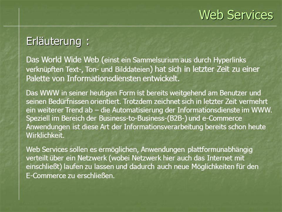 Web Services Erläuterung :