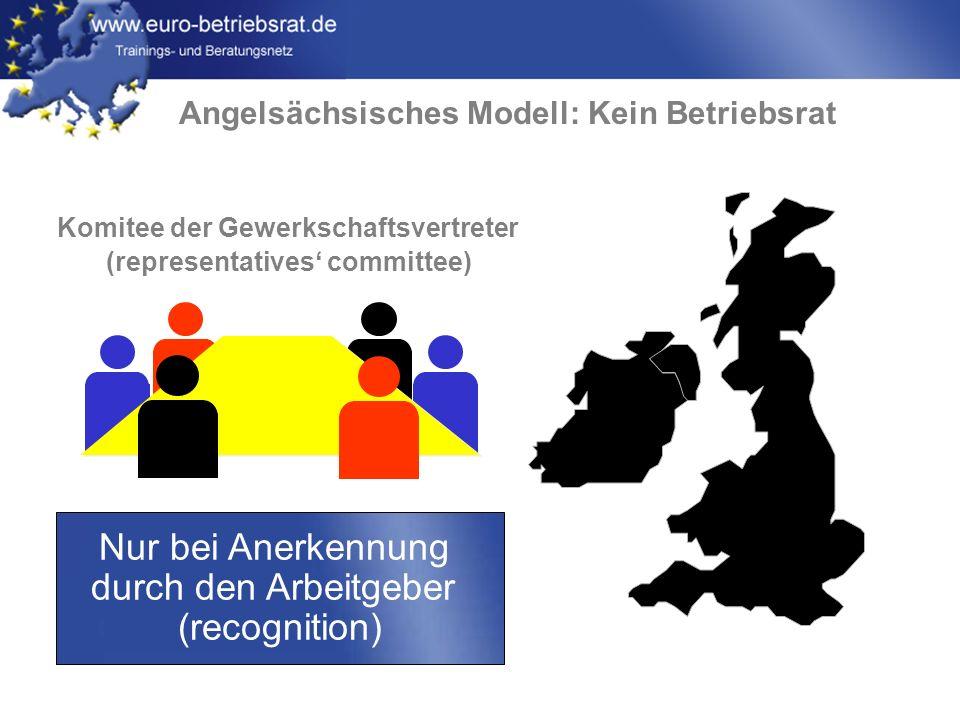 Nur bei Anerkennung durch den Arbeitgeber (recognition)