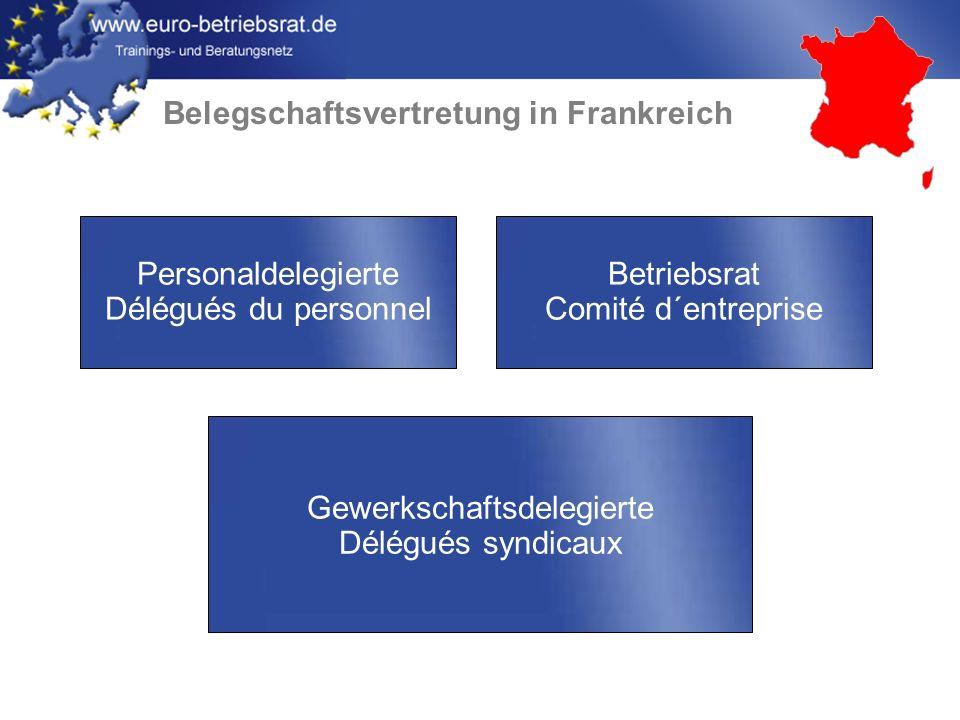 Belegschaftsvertretung in Frankreich