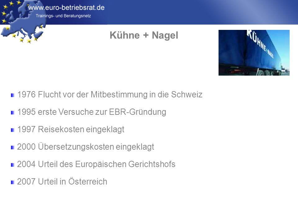 Kühne + Nagel 1976 Flucht vor der Mitbestimmung in die Schweiz