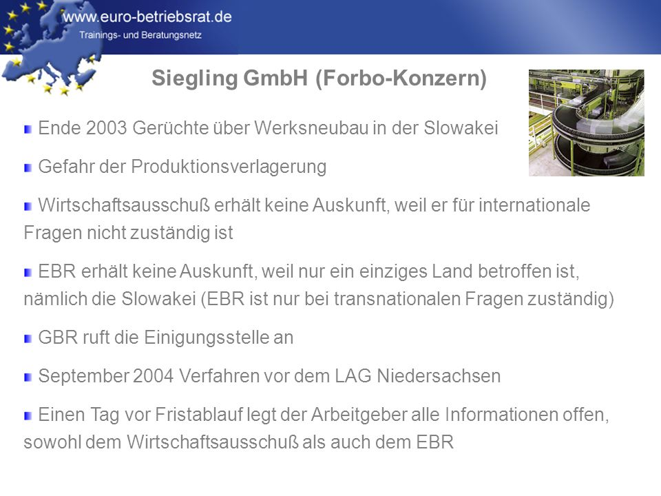 Siegling GmbH (Forbo-Konzern)