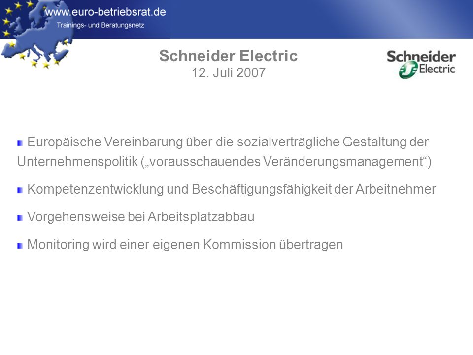 Schneider Electric 12. Juli 2007
