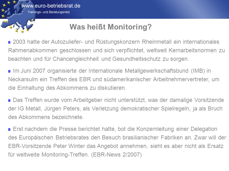 Was heißt Monitoring
