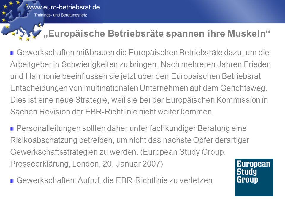 """""""Europäische Betriebsräte spannen ihre Muskeln"""