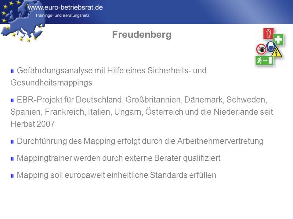 Freudenberg Gefährdungsanalyse mit Hilfe eines Sicherheits- und Gesundheitsmappings.