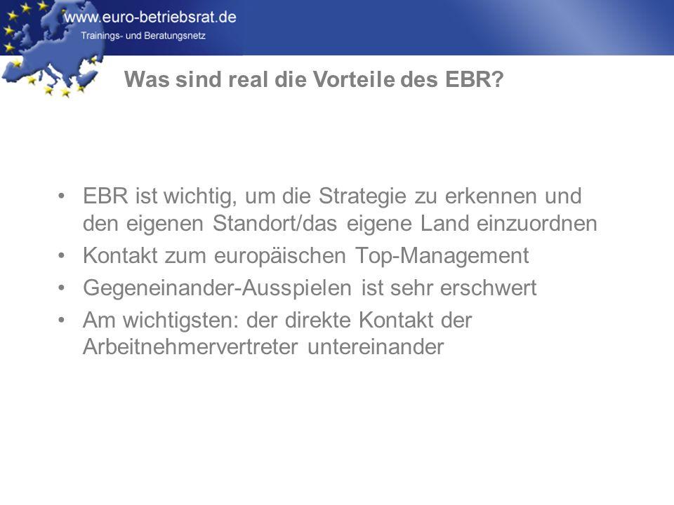 Was sind real die Vorteile des EBR