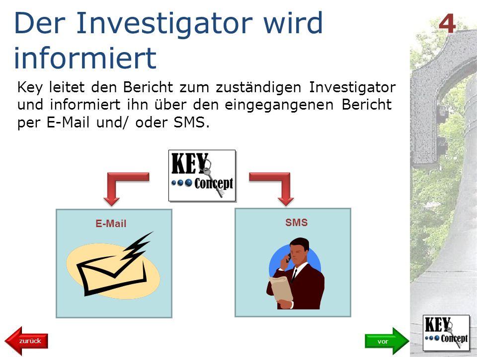 Der Investigator wird informiert
