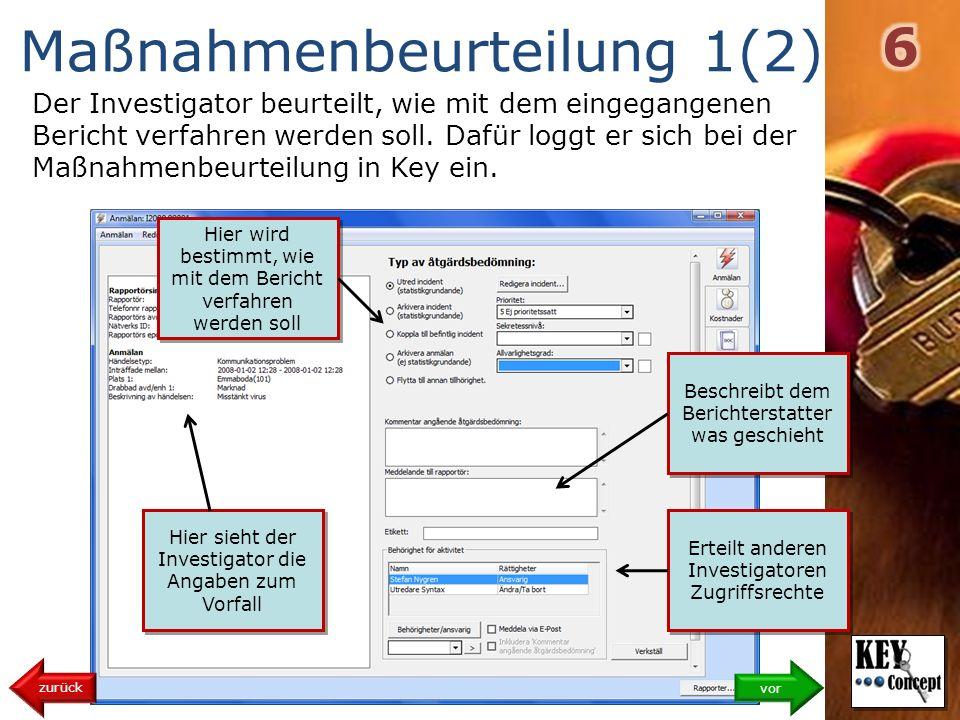 Maßnahmenbeurteilung 1(2)