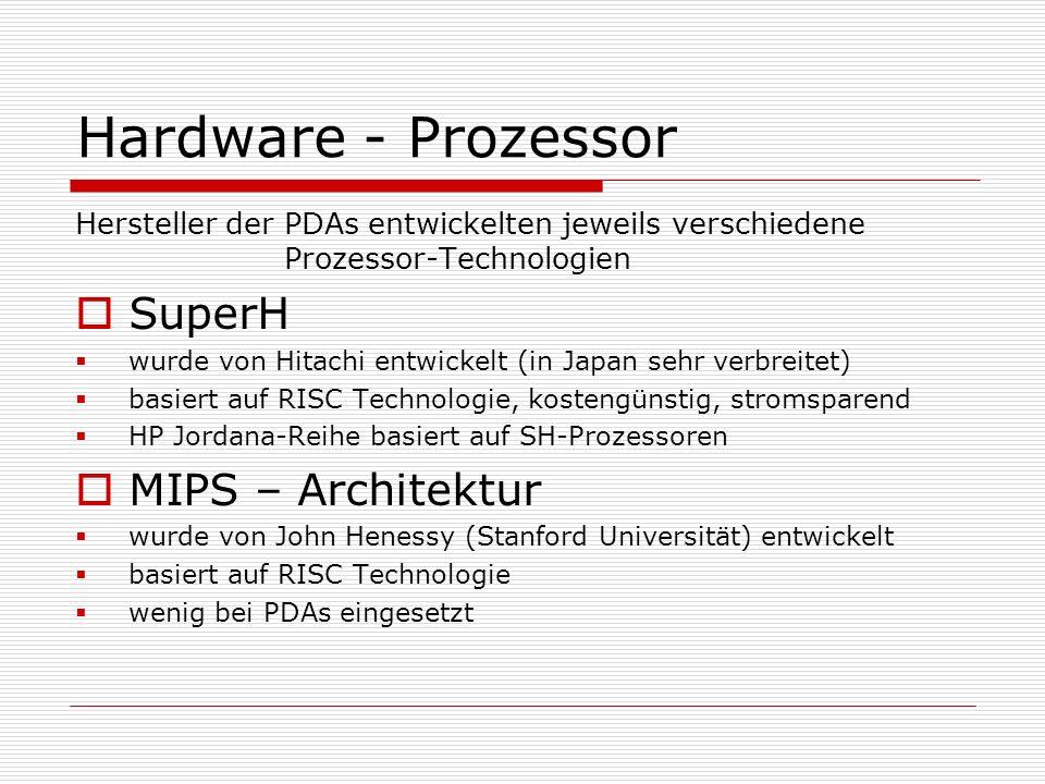 Hardware - Prozessor SuperH MIPS – Architektur