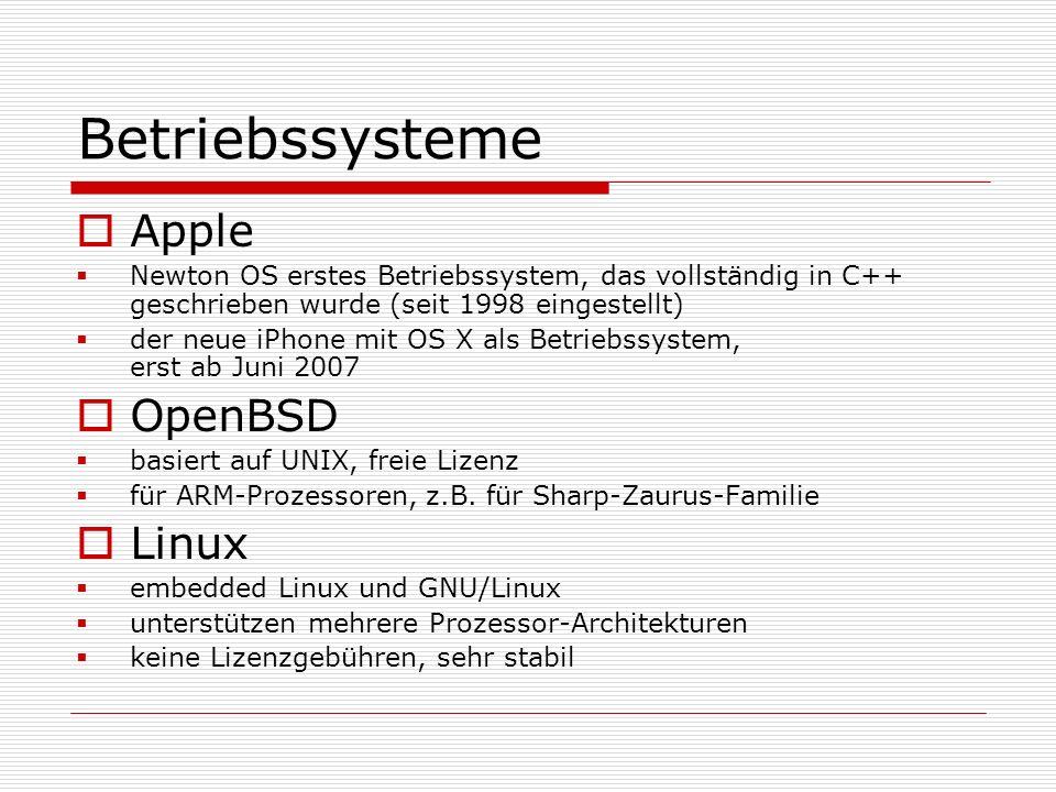 Betriebssysteme Apple OpenBSD Linux
