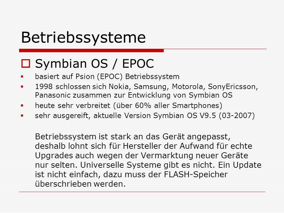 Betriebssysteme Symbian OS / EPOC