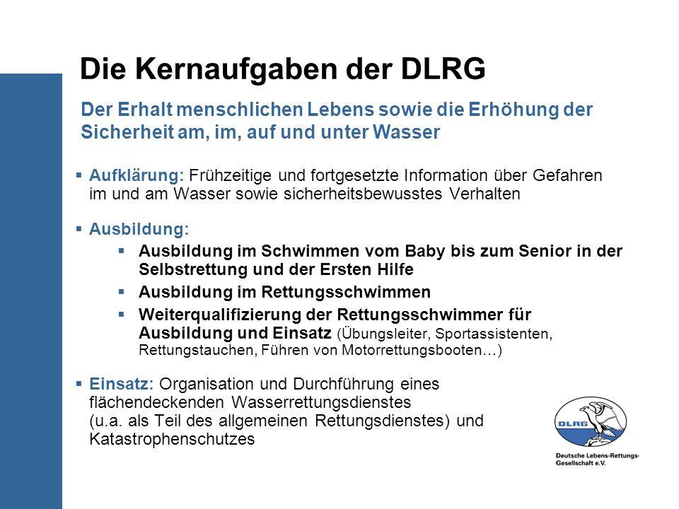 Die Kernaufgaben der DLRG