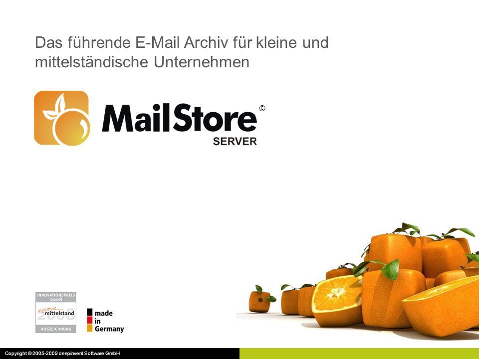 Das führende E-Mail Archiv für kleine und mittelständische Unternehmen
