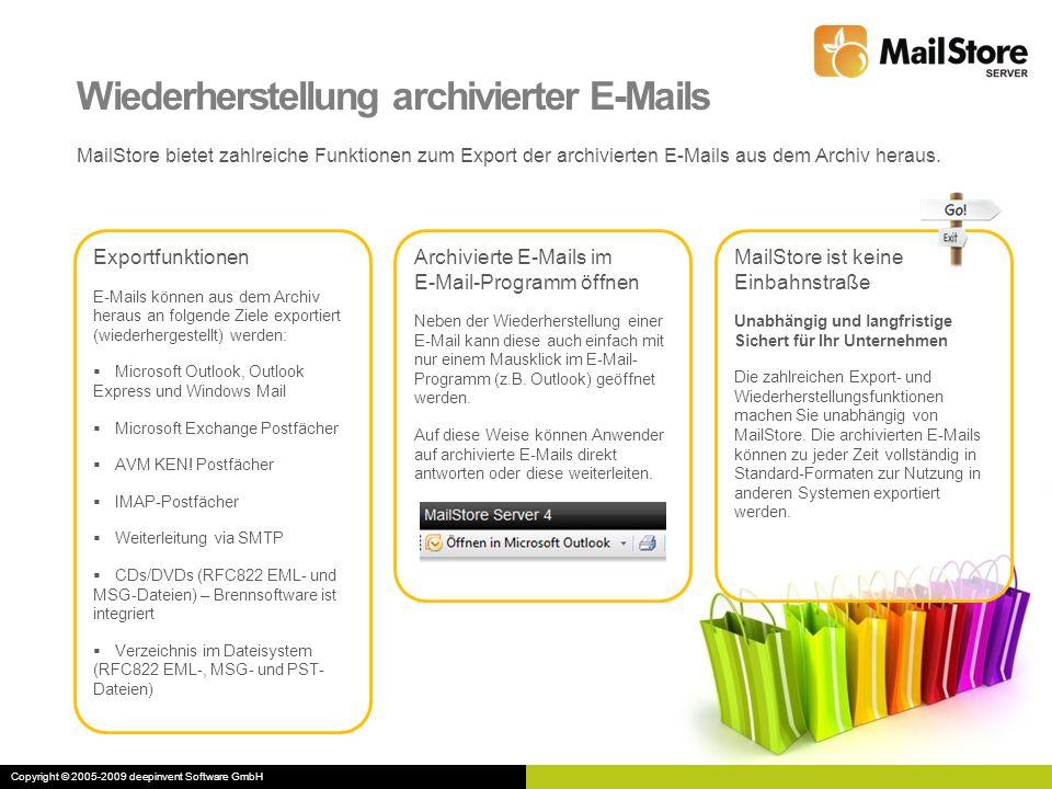 Wiederherstellung archivierter E-Mails