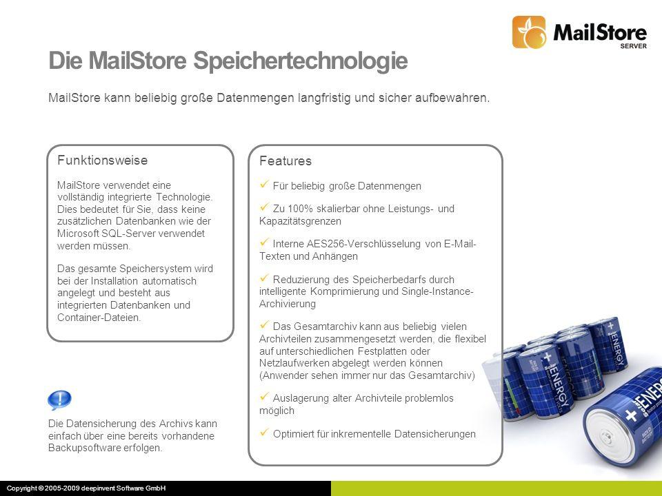 Die MailStore Speichertechnologie