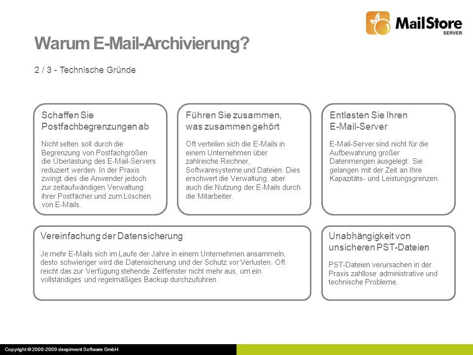 Warum E-Mail-Archivierung