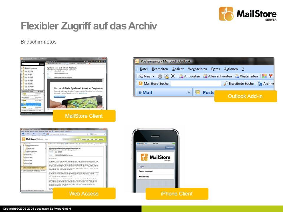 Flexibler Zugriff auf das Archiv